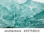 baikal ice texture with frost...   Shutterstock . vector #655753015