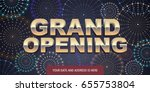 grand opening vector background.... | Shutterstock .eps vector #655753804