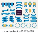 vector collection of decorative ... | Shutterstock .eps vector #655754539