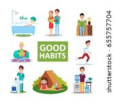 good habits vector... | Shutterstock .eps vector #655757704