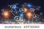 connection business and... | Shutterstock . vector #655760365