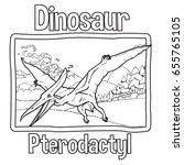 Outline Dinosaur Pterodactyl...