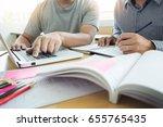 teaching helping technology... | Shutterstock . vector #655765435