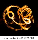 abstract background of flame on ... | Shutterstock . vector #655765801