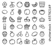 fruit icons set. set of 36... | Shutterstock .eps vector #655782169