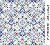 seamless turkish colorful...   Shutterstock .eps vector #655782625