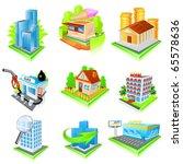 building icon set. vector | Shutterstock .eps vector #65578636