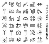 industrial icons set. set of 36 ... | Shutterstock .eps vector #655786411