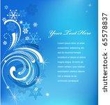 Blue Swirly Christmas...