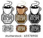hot cocoa cup in original... | Shutterstock .eps vector #65578900