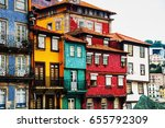 porto  portugal. houses of... | Shutterstock . vector #655792309