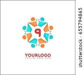 9 letter social relationship... | Shutterstock .eps vector #655794865