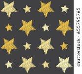 yellow shade stars with machine ... | Shutterstock .eps vector #655795765