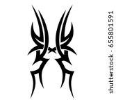 tribal tattoo art designs.... | Shutterstock .eps vector #655801591