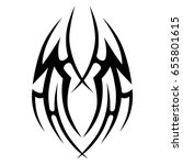 tribal tattoo art designs.... | Shutterstock .eps vector #655801615