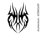tribal tattoo art designs.... | Shutterstock .eps vector #655801639