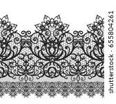 seamless pattern border.... | Shutterstock . vector #655804261