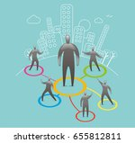 business networking | Shutterstock .eps vector #655812811
