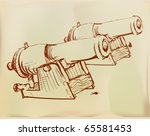 Ink Drawing Depicting The...