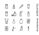 icon set for pharmacies.   Shutterstock .eps vector #655814731