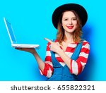 portrait of young smiling red... | Shutterstock . vector #655822321