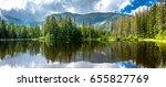 panorama of mountain lake in... | Shutterstock . vector #655827769