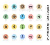 isolated vector logo set badge... | Shutterstock .eps vector #655830085