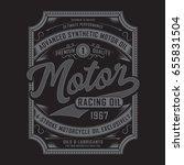 motor racing oil typography ... | Shutterstock .eps vector #655831504