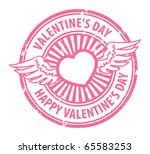 grunge rubber stamp with heart  ... | Shutterstock .eps vector #65583253