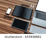 computer  laptop  digital... | Shutterstock . vector #655838881