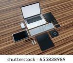 computer  laptop  digital... | Shutterstock . vector #655838989