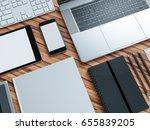 computer  laptop  digital... | Shutterstock . vector #655839205