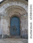 the entrance to the church with ... | Shutterstock . vector #655841041