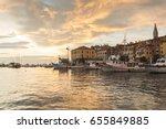rovinj  croatioa  september 24  ...   Shutterstock . vector #655849885