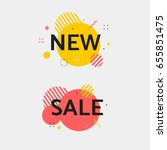 new and sale tag. flat... | Shutterstock .eps vector #655851475