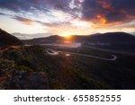 sunrise at plaine des sables ... | Shutterstock . vector #655852555