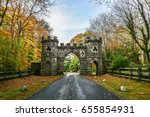 tollymore park gate  autumn... | Shutterstock . vector #655854931