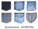 Jeans Pockets Isolated