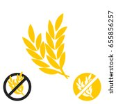 gluten free vector icon | Shutterstock .eps vector #655856257