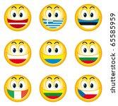 Illustration Of Nation Smileys...