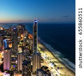 surfers paradise high rises at... | Shutterstock . vector #655860511