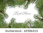 pine branch christmas frame... | Shutterstock . vector #65586313