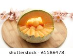 Melon Basket With Flowers