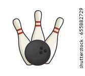 bowling sport game | Shutterstock .eps vector #655882729