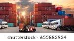 industrial container cargo... | Shutterstock . vector #655882924