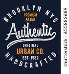 vintage brooklyn nyc denim... | Shutterstock .eps vector #655883689