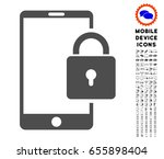 lock smartphone icon with... | Shutterstock .eps vector #655898404
