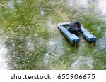 Small photo of Electric aerator for increase oxygen in waste water treatment.