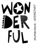 wonderful slogan vector. | Shutterstock .eps vector #655907497