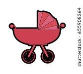 car for baby cartoon   Shutterstock .eps vector #655908364
